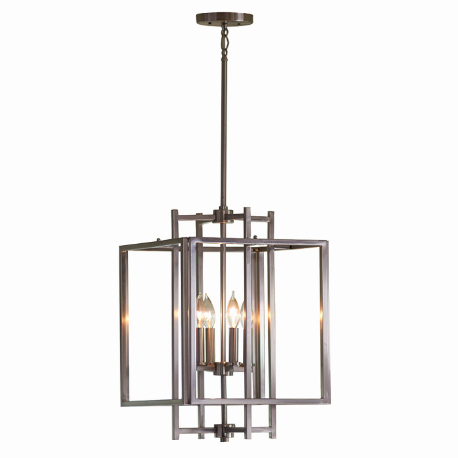 Shop allen + roth 14-in W Brushed Nickel Standard Pendant Light at Lowes.com