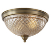 allen + roth Lynlore 12.99-in W Old Brass Ceiling Flush Mount Light
