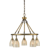 allen + roth Lynlore 24.02-in 5-Light Old Brass Vintage Mercury Glass Draped Chandelier