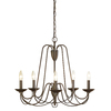 allen + roth Wintonburg 24.25-in 5-Light Aged Bronze Chandelier