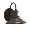 allen + roth Hainsbrook 7.99-in W 1-Light Aged Bronze Arm Hardwired Wall Sconce
