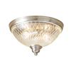 allen + roth Cardington 13-in W Brushed Nickel Ceiling Flush Mount Light