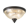 allen + roth Cardington 13-in W Aged Bronze Ceiling Flush Mount Light