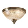 allen + roth 12.99-in W Aged Brass Ceiling Flush Mount Light
