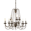 allen + roth Wintonburg 28-in 9-Light Aged Bronze Chandelier
