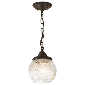 allen roth cardington 7 in w aged bronze mini pendant light with. Black Bedroom Furniture Sets. Home Design Ideas