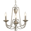 allen + roth Wintonburg 18.03-in 3-Light Brushed Nickel Standard Chandelier