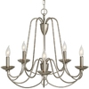 allen + roth Wintonburg 24.25-in 5-Light Brushed Nickel Standard Chandelier