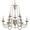 allen + roth Wintonburg 27.95-in 9-Light Brushed Nickel Standard Chandelier