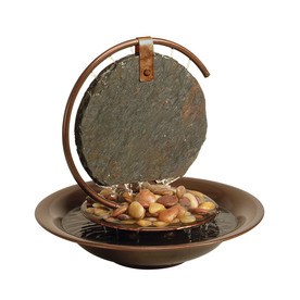 Bluworld Water Wonder 11-in Stone Tabletop Fountain