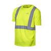 Mission Medium Safety Green High Visibility Reflective Tagless T-Shirt