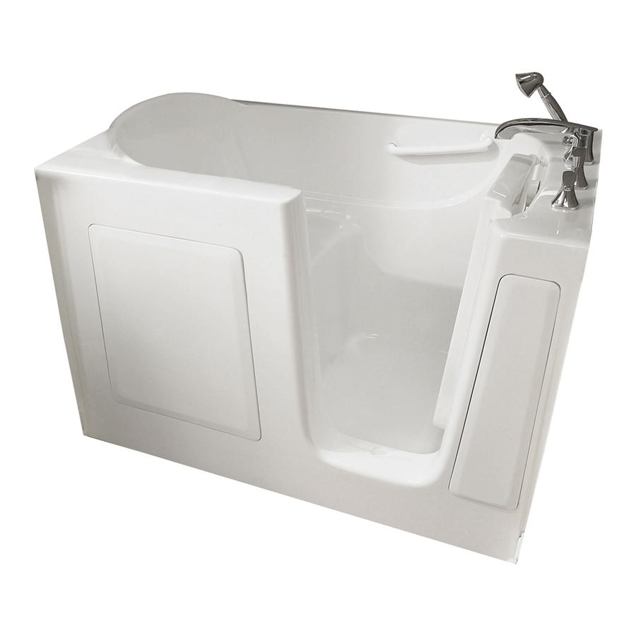 Shop American Standard 60 In L X 30 In W X 38 In H White Gelcoat And Fibergla