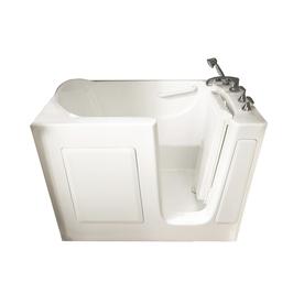 shop american standard 50 in l x 30 in w x 37 in h white gelcoat and fiberglass rectangular walk. Black Bedroom Furniture Sets. Home Design Ideas