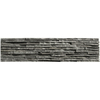 Solistone 6-Pack 6-in x 24-in Portico Slate Black/Grey Natural Stone Wall Tile