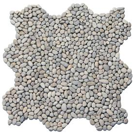 Solistone Micro Pebbles 10-Pack Playa Beige Pebble Mosaic Pebble Floor and Wall Tile (Common: 12-in x 12-in; Actual: 12-in x 12-in)