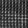 Solistone 10-Pack Piano Black Glass Mosaic Wall Tile (Common: 12-in x 12-in; Actual: 12-in x 12-in)