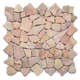 Solistone Indonesian Pebbles 10-Pack Sumatra Red Pebble Mosaic Pebble Floor and Wall Tile (Common: 12-in x 12-in; Actual: 12-in x 12-in)