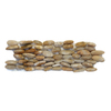 Solistone 15-Pack 4-in x 12-in Standing Decorative Pebbles Amber Natural Stone Wall Tile