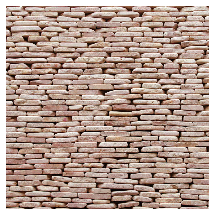 Decorative Wall Tiles Lowes : Solistone pack standing decorative pebbles red