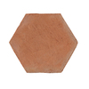 Solistone 5-Pack Handmade Terra Cotta Hexagano Saltillo Indoor/Outdoor Floor Tile (Common: 8-in x 9-in; Actual: 8-in x 9-in)