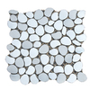 Solistone 10-Pack 11-in x 11-in Freeform Mosaic Aurora Polished Silver Metal Wall Tile