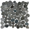 Solistone 10-Pack 11-in x 11-in Freeform Mosaic Zenith Polished Black Metal Wall Tile