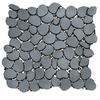 Solistone 10-Pack 11-in x 11-in Freeform Mosaic Umbra Brushed Black Metal Wall Tile