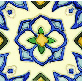 Solistone 10-Pack Hand-Painted Ceramic Jirasol Glazed Ceramic Indoor/Outdoor Wall Tile (Common: 6-in x 6-in; Actual: 6-in x 6-in)