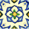 Solistone Hand-Painted 10-Pack Jirasol Ceramic Wall Tile (Common: 6-in x 6-in; Actual: 6-in x 6-in)