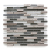 Solistone Opera Glass 10-Pack Aria Light Subway Mosaic Stone and Glass Marble Wall Tile (Common: 12-in x 12-in; Actual: 11.75-in x 12-in)