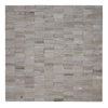 Solistone Post Modern 10-Pack Haisa Dark Flat Stacked Uniform Squares Mosaic Marble Wall Tile (Common: 12-in x 12-in; Actual: 12-in x 12-in)