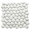 Solistone 10-Pack 11-in x 11-in Freeform Mosaic White Glass Wall Tile