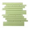Solistone 10-Pack 9.5-in x 10.5-in Piano Green Glass Wall Tile