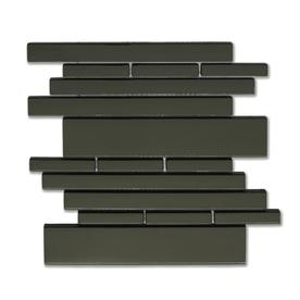 Solistone Piano Glass 10-Pack Melody Linear Mosaic Glass Wall Tile (Common: 9-in x 10-in; Actual: 9.5-in x 10.5-in)