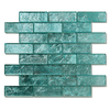 Solistone Folia Glass 10-Pack Juniper Subway Mosaic Glass Wall Tile (Common: 12-in x 12-in; Actual: 12-in x 12-in)