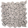 Solistone Indonesian Pebbles 10-Pack Dark Gray Pebble Mosaic Marble Floor and Wall Tile (Common: 12-in x 12-in; Actual: 12-in x 12-in)