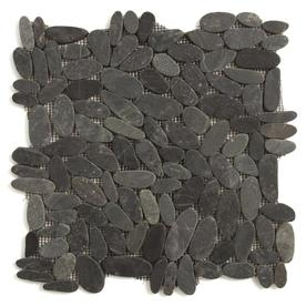 Solistone 12-in x 12-in Black Stone Floor Tile
