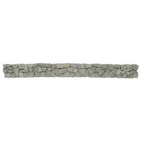 Solistone 9-Pack Indonesian Pebbles Green Gobos Natural Stone Mosaic Random Indoor/Outdoor Floor Tile (Common: 4-in x 39-in; Actual: 4-in x 39-in)