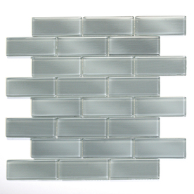 Solistone Mardi Gras Glass 10-Pack Carrollton Subway Mosaic Glass Wall Tile (Common: 12-in x 12-in; Actual: 12-in x 12-in)
