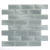Solistone 10-Pack 12-in x 12-in Mardi Gras Glass Light Gray Glass Wall Tile