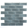 Solistone 10-Pack 12-in x 12-in Mardi Gras Glass Dark Gray Glass Wall Tile