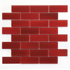 Solistone 10-Pack 12-in x 12-in Mardi Gras Glass Red Glass Wall Tile