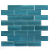 Solistone 10-Pack 12-in x 12-in Mardi Gras Glass Blue Glass Wall Tile