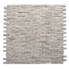 Solistone 10-Pack 12-in x 12-in Haisa Light Gray Natural Stone Wall Tile
