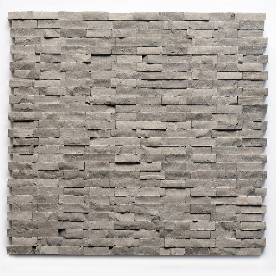 shop solistone 10 pack haisa marble dark natural stone mosaic subway indoor outdoor wall tile. Black Bedroom Furniture Sets. Home Design Ideas