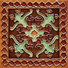 Solistone 10-Pack Hand-Painted Ceramic Oaxaca Glazed Ceramic Indoor/Outdoor Wall Tile (Common: 6-in x 6-in; Actual: 6-in x 6-in)