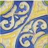 Solistone Hand-Painted 10-Pack Circulo Ceramic Wall Tile (Common: 6-in x 6-in; Actual: 6-in x 6-in)