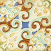 Solistone Hand-Painted 10-Pack Remolinos Ceramic Wall Tile (Common: 6-in x 6-in; Actual: 6-in x 6-in)