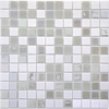 Solistone 10-Pack 12-in x 12-in Luxor White Glass Mosaic Floor Tile