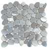 Solistone Metal Freeform Brushed Stainless Mosaic Metal Wall Tile (Common: 11-in x 11-in; Actual: 11-in x 11-in)
